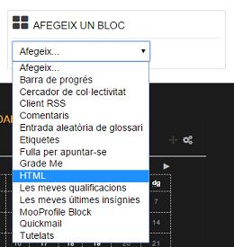 Afegir Block HTML